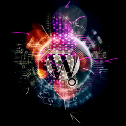 Wordpress logo with colors