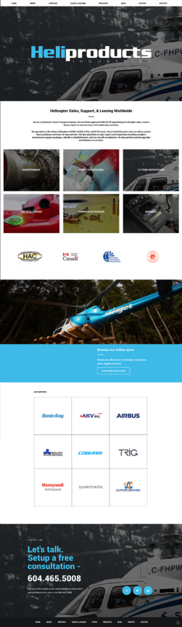 Heliproducts website